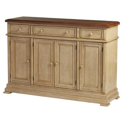 Three Posts Courtdale Sideboard Color: Almond / Wheat In Within Most Current Courtdale Sideboards (View 7 of 20)