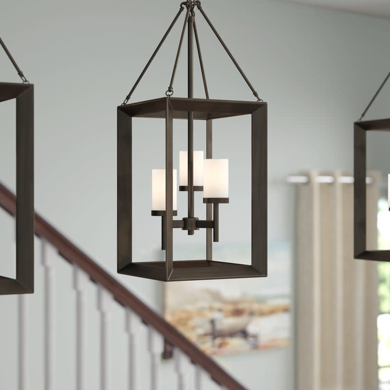 Three Posts Thorne 3 Light Foyer Pendant Pertaining To Well Known Thorne 4 Light Lantern Rectangle Pendants (View 22 of 30)