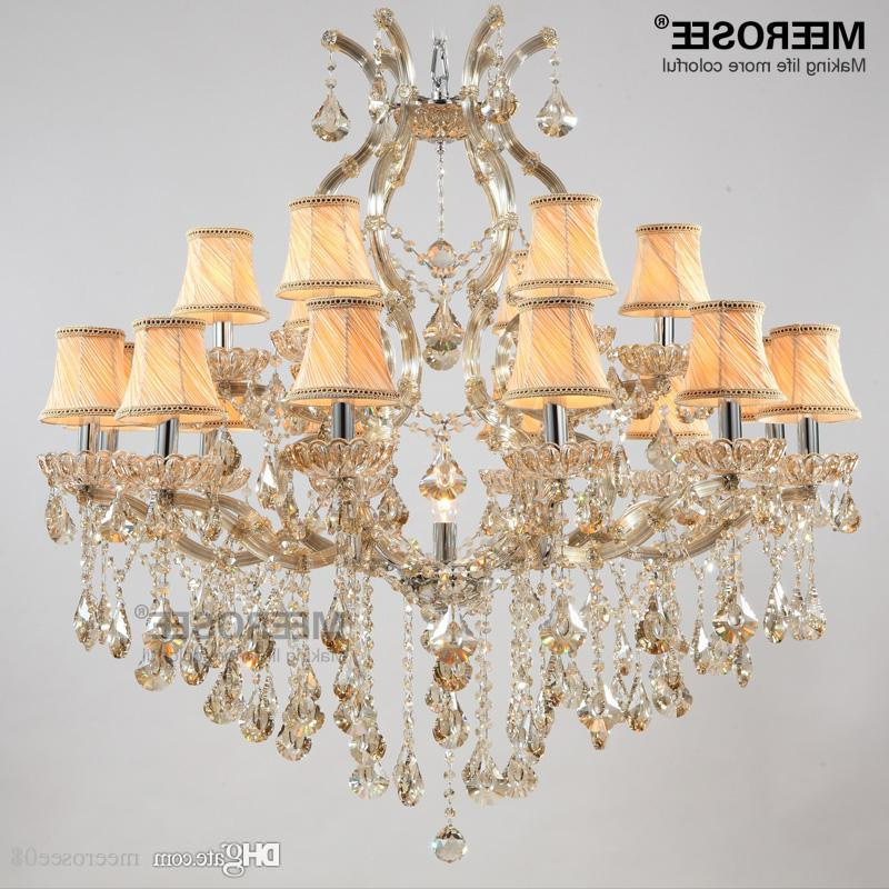 Thresa 5 Light Shaded Chandeliers In Popular Luxury Crystal Chandelier Light Fixture Maria Theresa Crystal Luster Lamp  Deckenleuchten For Lobby Stair Hallway Project Md8475 (Gallery 18 of 30)
