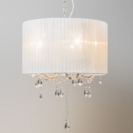 Thresa 5 Light Shaded Chandeliers With Latest Chandelier Marie Theresa 5 With White Organza Shade (View 10 of 30)