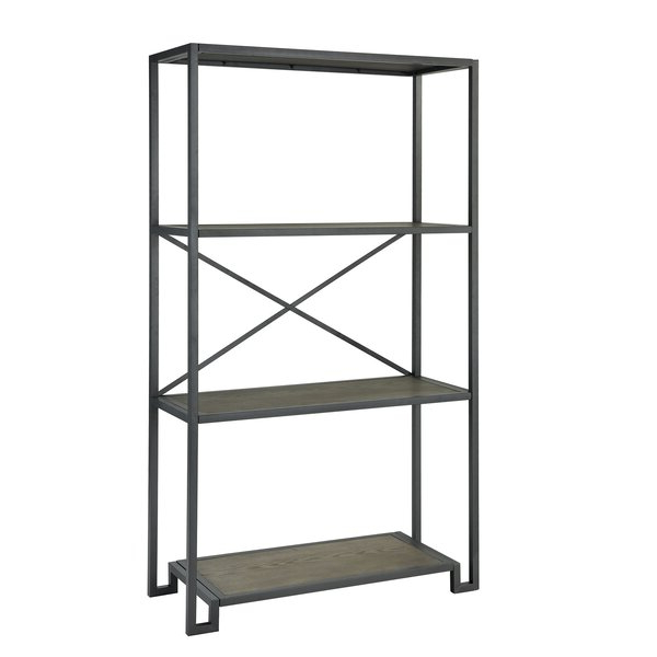 Tinoco Storage Shelf Standard Bookcases Inside Fashionable Tinoco Storage Shelf Standard Bookcasered Barrel Studio (View 14 of 20)