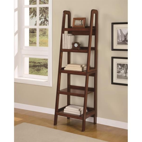 Tiny Inside Most Up To Date Bordelon Slatted Ladder Bookcases (View 16 of 20)