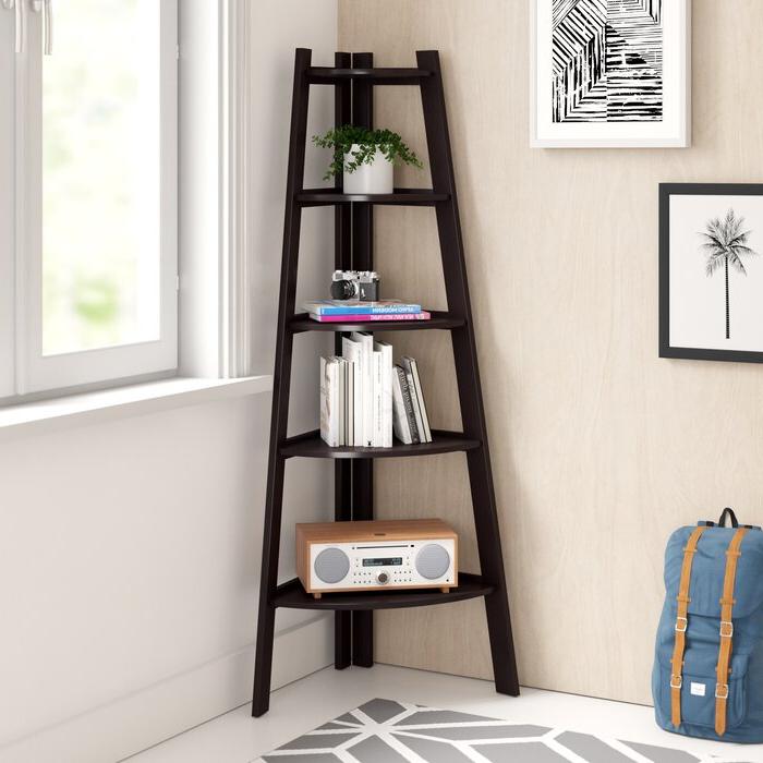 Tisha Corner Bookcase For Well Liked Tisha Corner Bookcases (Gallery 3 of 20)