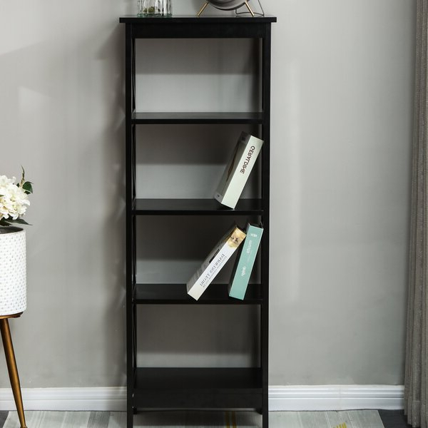 Traylor X Sided Narrow Standard Bookcasebreakwater Bay In Current Narrow Profile Standard Cube Bookcases (Gallery 7 of 20)