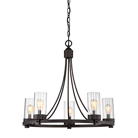 Trendy Agave Oil Rubbed Bronze 5 Light Candle Style Chandelier Within Shaylee 5 Light Candle Style Chandeliers (Gallery 12 of 30)