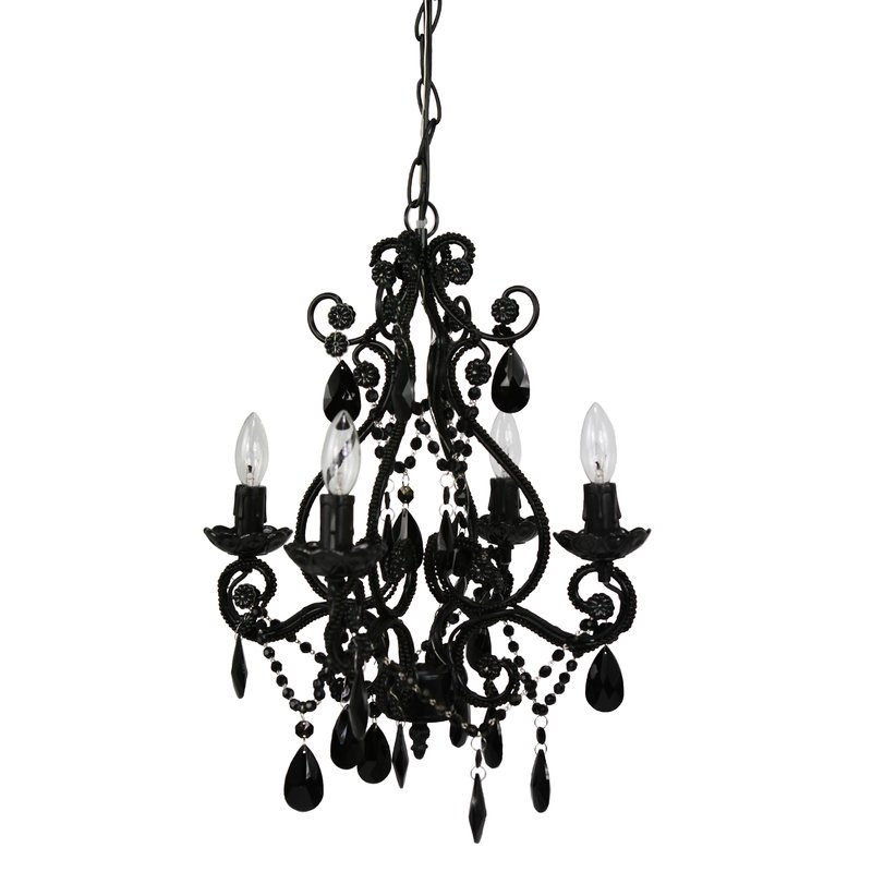 Trendy Aldora 4 Light Candle Style Chandeliers Throughout Aldora 4 Light Candle Style Chandelier (Gallery 1 of 30)