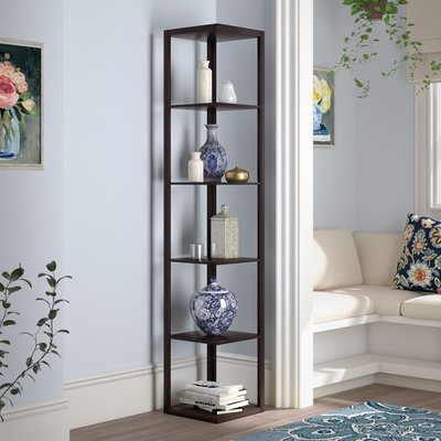 Trendy Ardenvor Corner Bookcases With Beachcrest Home Ardenvor Corner Unit Bookcase In  (View 18 of 20)