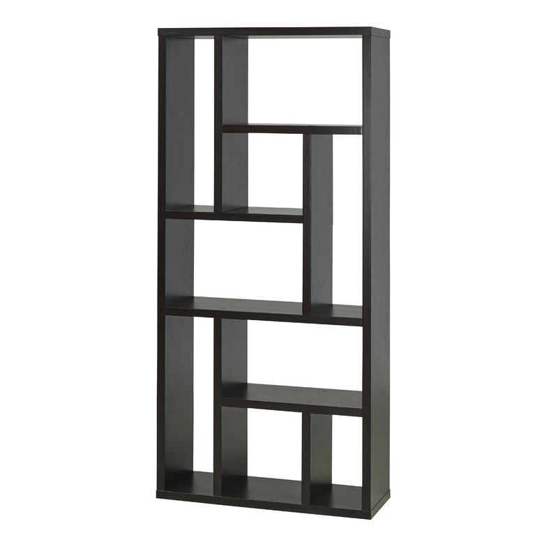 Trendy Bauch Multi Tier Geometric Bookcase Pertaining To Vaccaro Geometric Bookcases (Gallery 13 of 20)