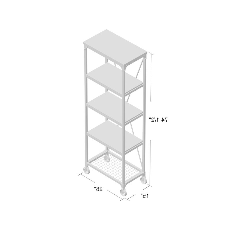 Trendy Cable Etagere Bookcase With Regard To Rocklin Etagere Bookcases (View 12 of 20)