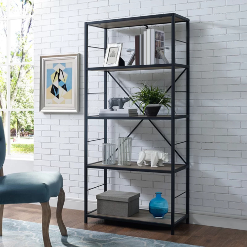 Trendy Cecelia Etagere Bookcases Intended For Macon Etagere Bookcase (View 16 of 20)