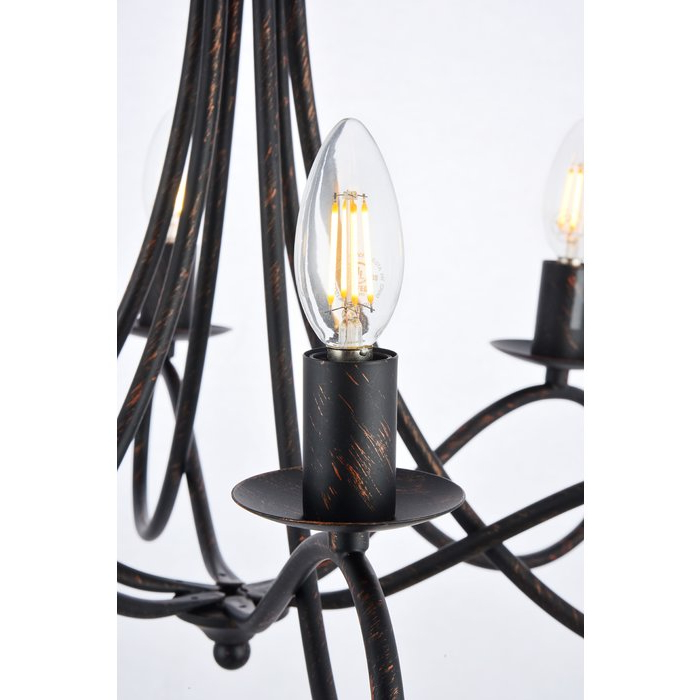 Trendy Diaz 6 Light Candle Style Chandelier With Diaz 6 Light Candle Style Chandeliers (Gallery 4 of 30)
