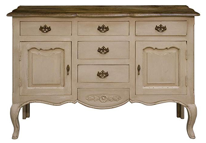 Trendy Etienne Sideboards Within Etienne Country French Cream Sideboard Dresser: Amazon.co (View 18 of 20)