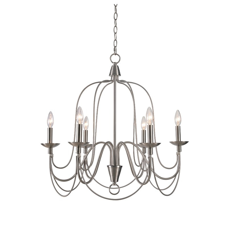 Trendy Gaines 9 Light Candle Style Chandeliers In Kollman 6 Light Candle Style Chandelier (View 8 of 30)