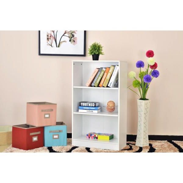 Trendy Hampton Bay White 3 Shelf Bookcase Thd90003.1A.of – The Home In Keithley Standard Bookcases (Gallery 19 of 20)