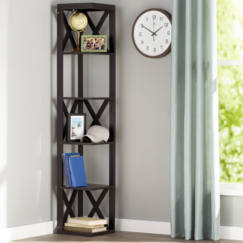 Trendy Hattie Corner Bookcases Pertaining To Hattie Corner Unit Bookcase (View 19 of 20)