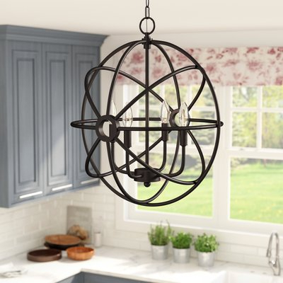 Trendy Morganti 4 Light Chandeliers For Saladino 4 Light Chandelier (View 23 of 30)