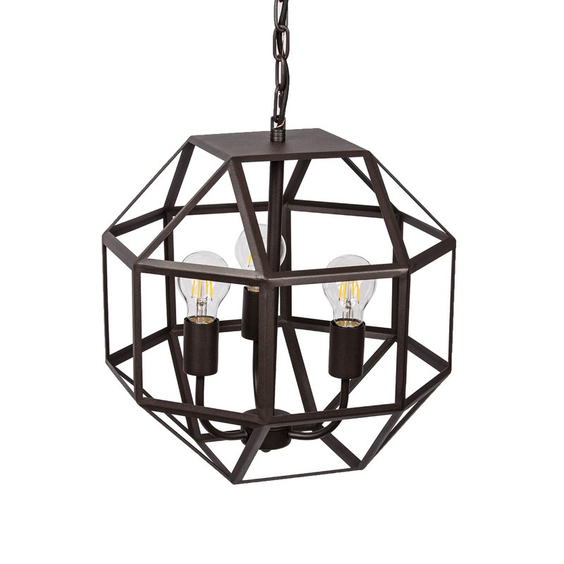 Trendy Mullican 3 Light Geometric Chandelier Intended For Tabit 5 Light Geometric Chandeliers (Gallery 23 of 30)