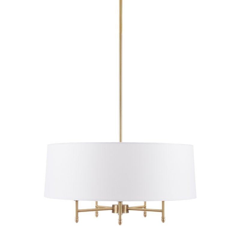 Trendy Presidio 5 Light Drum Chandelier In Breithaup 4 Light Drum Chandeliers (View 9 of 30)