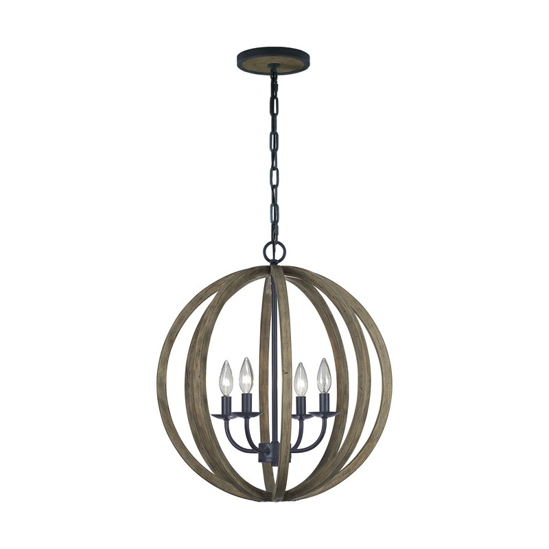 Trendy Ricciardo 4 Light Globe Chandelier Pertaining To Filipe Globe Chandeliers (View 27 of 30)