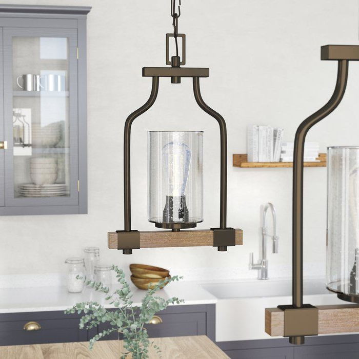 Trendy Richard 1 Light Geometric Pendant In  (View 27 of 30)