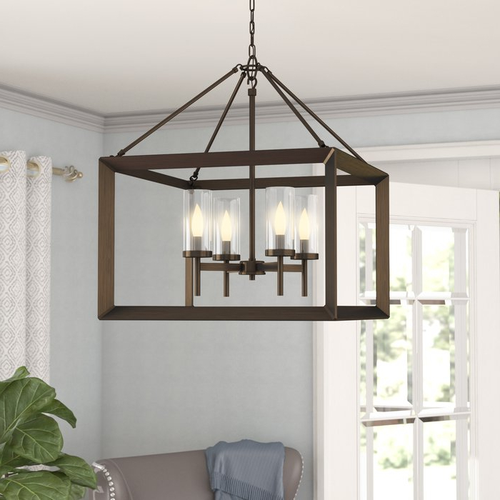 Trendy Thorne 6 Light Lantern Square / Rectangle Pendants Regarding Thorne 4 Light Lantern Rectangle Pendant (Gallery 17 of 30)