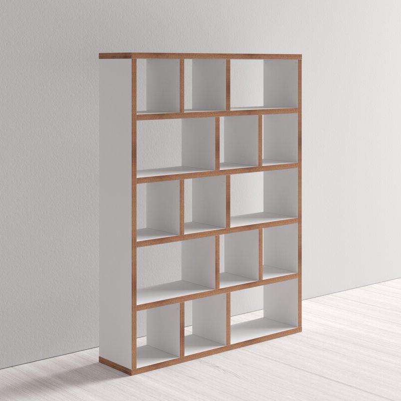 Trendy Varga 5 Level Geometric Bookcases Regarding Varga 5 Level Geometric Bookcase (Gallery 2 of 20)