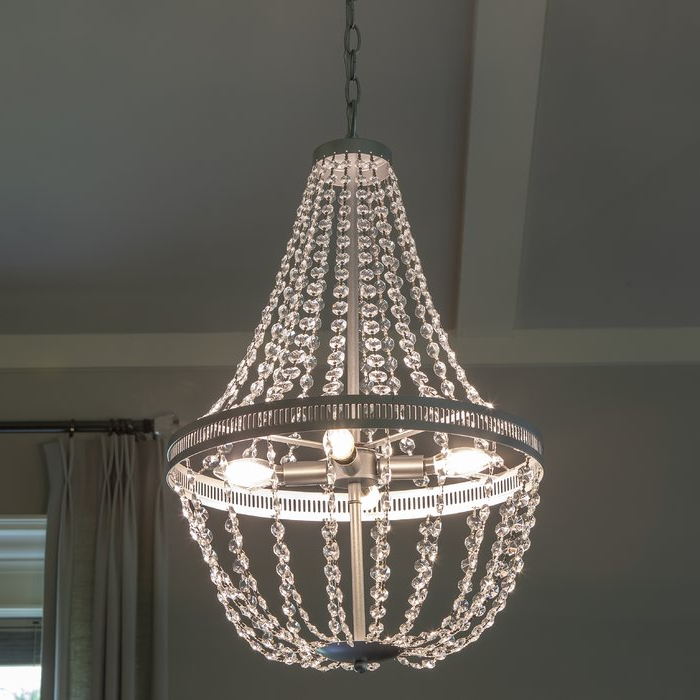 Trendy Weidman 4 Light Crystal Chandelier Regarding Jill 4 Light Drum Chandeliers (View 12 of 30)