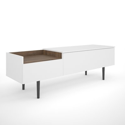 Turn On The Brights Dovray Sideboard Color: White/walnut In Inside Preferred Dovray Sideboards (View 17 of 20)