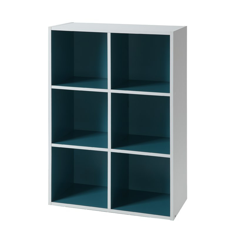 Two Tone Organizer Cube Unit Bookcase Intended For Most Popular Karlie Cube Unit Bookcases (Gallery 19 of 20)