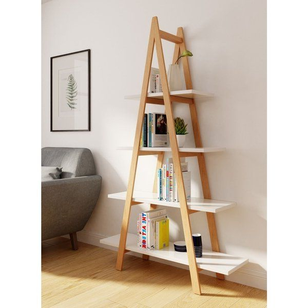 Universal Expert Abacus Ladder Bookshelf, Modern Oak And Pertaining To Popular Brock Ladder Bookcases (Gallery 13 of 20)