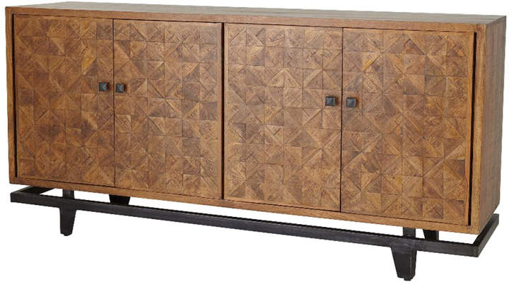Upper Stanton Sideboards Throughout Trendy Brown Wood & Iron Four Door Sideboard (View 16 of 20)