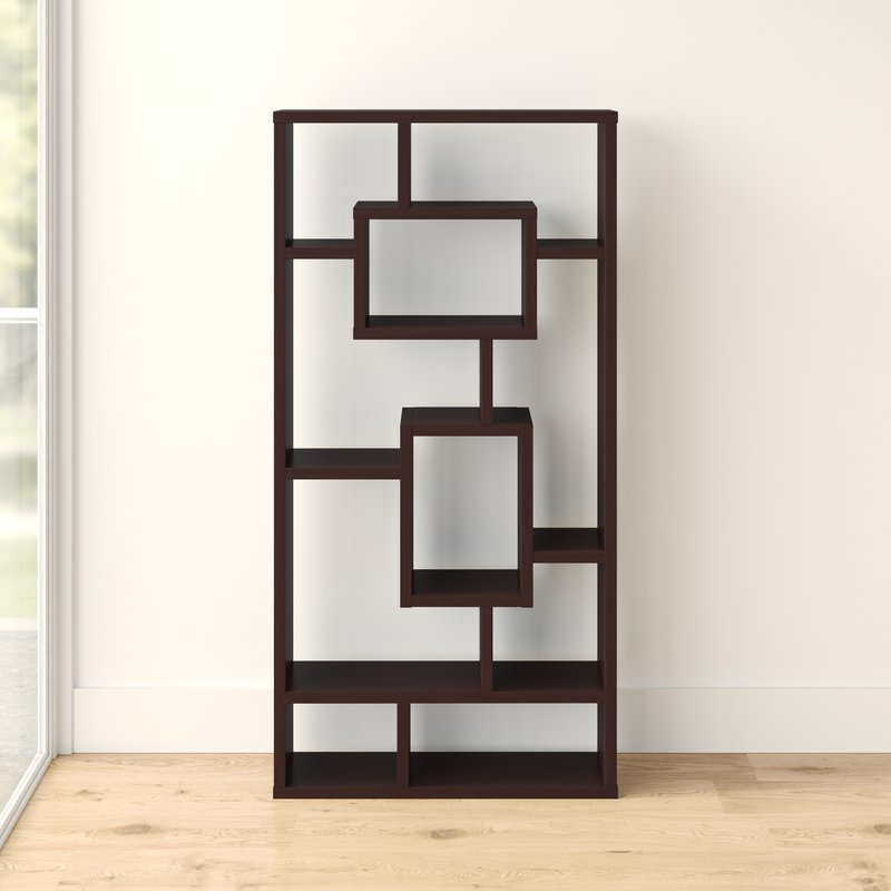 Vaccaro Geometric Bookcase For Newest Vaccaro Geometric Bookcases (Gallery 1 of 20)