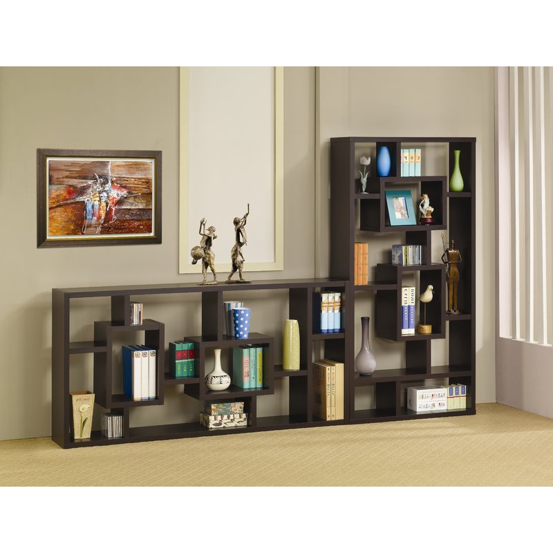 Vaccaro Geometric Bookcase For Recent Vaccaro Geometric Bookcases (View 11 of 20)