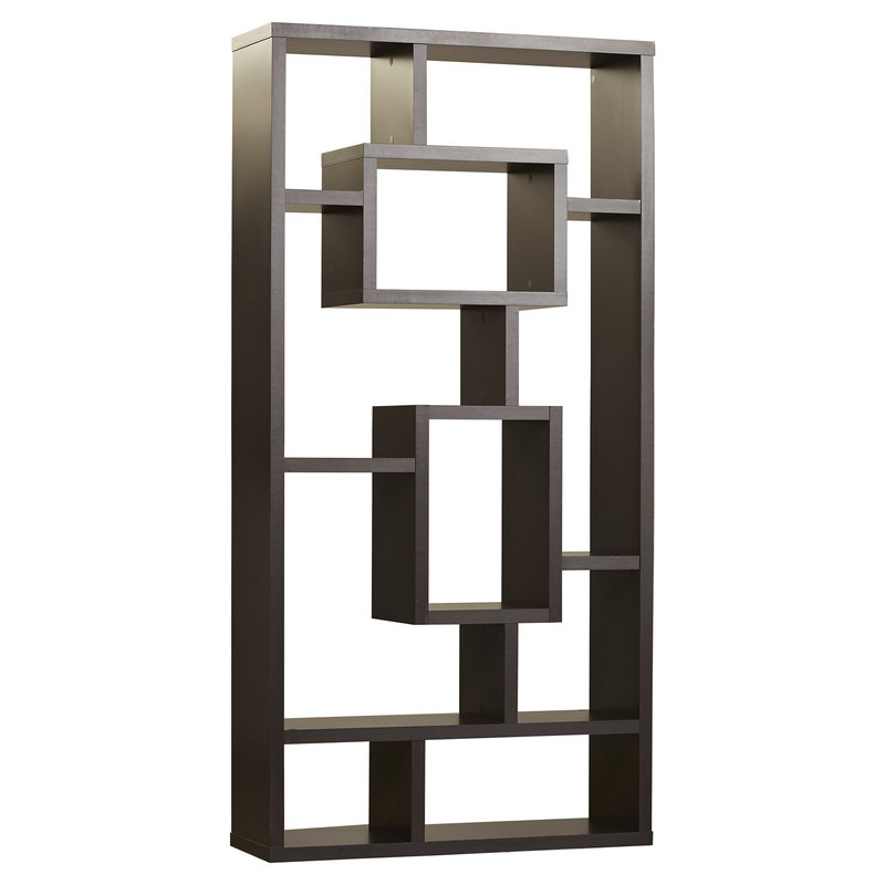 Vaccaro Geometric Bookcase With Latest Vaccaro Geometric Bookcases (Gallery 3 of 20)
