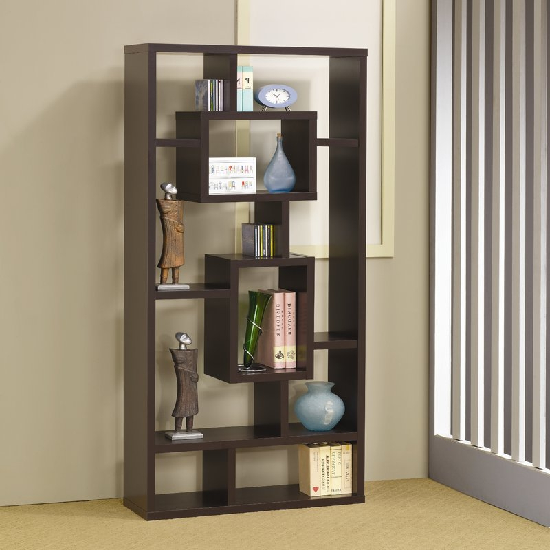 Vaccaro Geometric Bookcases In Trendy Vaccaro Geometric Bookcase (View 5 of 20)