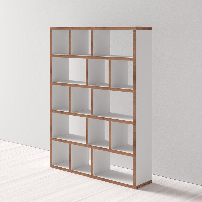 Varga 5 Level Geometric Bookcases Within Most Recent Varga 5 Level Geometric Bookcase (Gallery 5 of 20)
