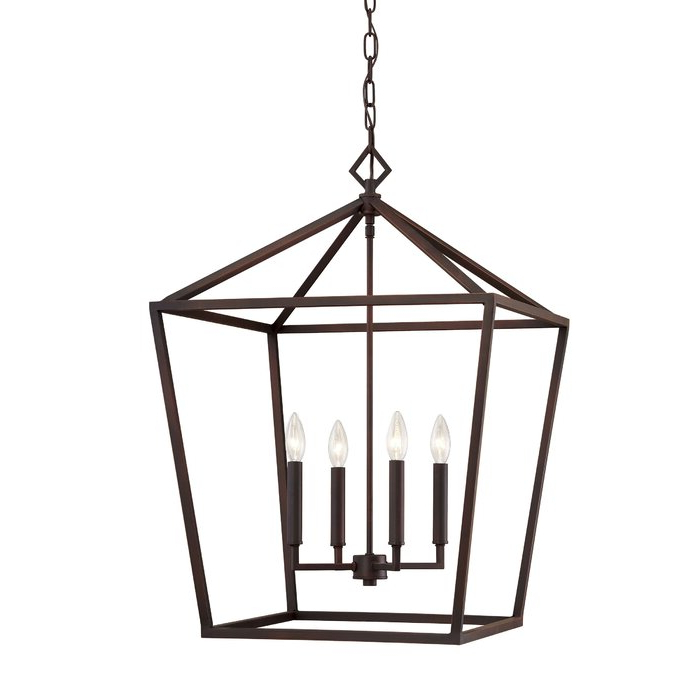 Varnum 4 Light Lantern Pendant With Most Up To Date Varnum 4 Light Lantern Pendants (Gallery 4 of 30)