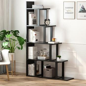 Vas Corner Bookcases Within Favorite 5 Shelf Ladder Corner Bookshelf,современный Простой Стиль Из Стали И Дерева,для Гостиной Или Прихожей – Buy 5 Полка Для Лестниц В Виде Книжной (View 20 of 20)