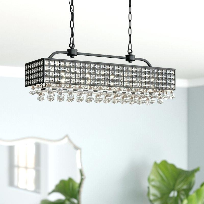 Verdell 5 Light Crystal Chandeliers For Most Popular Crystal And Iron Five Light Chandelier – Marianapruitt (View 24 of 30)