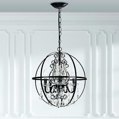 Verlene Foyer 5 Light Globe Chandeliers Throughout Newest Black Globe Chandelier – Cecilleseibel.co (Gallery 28 of 30)
