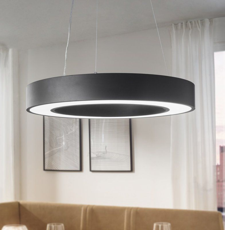 Vickers 1 Light Led Drum Pendant (View 28 of 30)