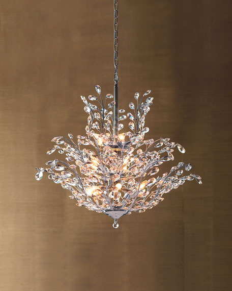 Von 4 Light Crystal Chandeliers Pertaining To Trendy Upside Down 18 Light Crystal Chandelier (View 16 of 30)