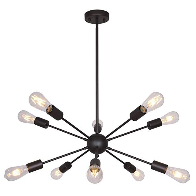 Vroman 12 Light Sputnik Chandeliers Within Most Recently Released Bonlicht Modern Sputnik Chandelier Lighting 10 Lights Oil (View 18 of 30)