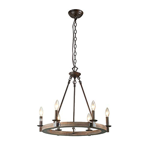 Wagon Wheel Chandelier: Amazon Intended For Fashionable Shayla 12 Light Wagon Wheel Chandeliers (View 16 of 30)
