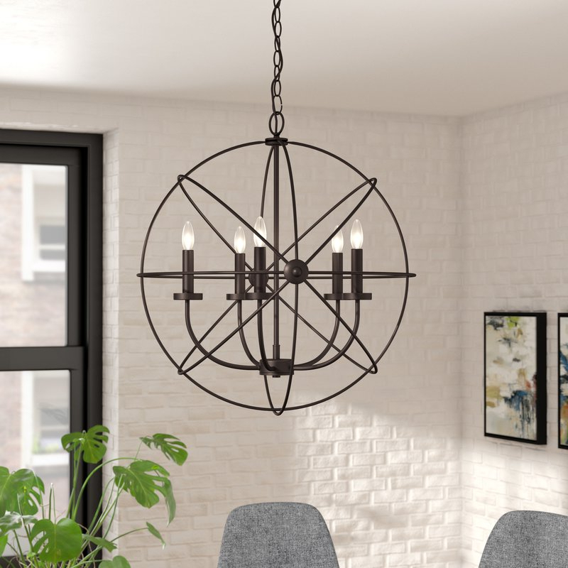 Featured Photo of Waldron 5 Light Globe Chandeliers