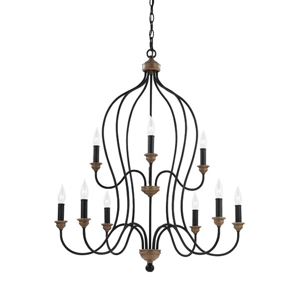 Watford 9 Light Candle Style Chandeliers Intended For Trendy Sundberg 9 Light Candle Style Chandelier (View 24 of 30)