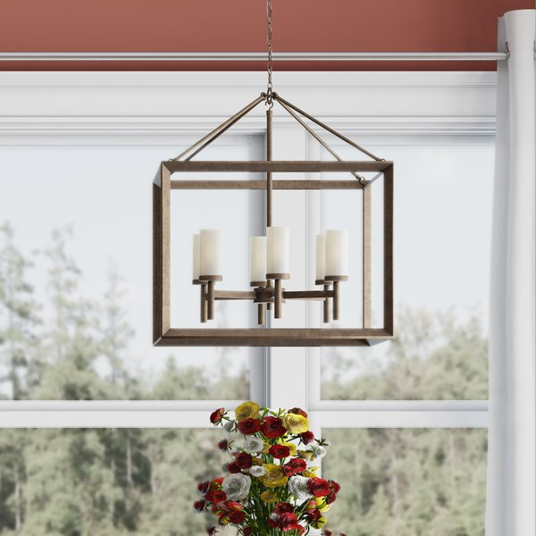 Wayfair With Famous Nisbet 6 Light Lantern Geometric Pendants (View 30 of 30)