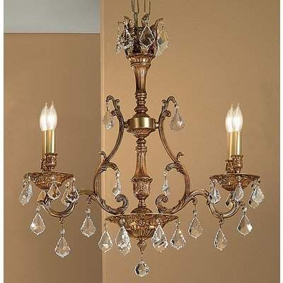 Well Known 4 Light Shabby Chic Crystal Plug In Chandelier (Gold) Pertaining To Blanchette 5 Light Candle Style Chandeliers (View 28 of 30)