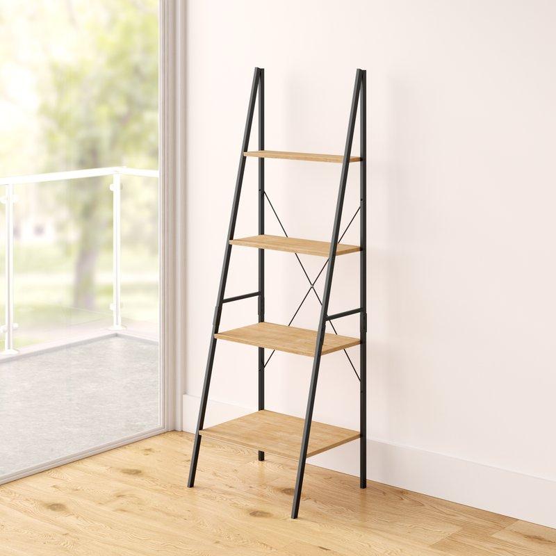 Well Known Almanzar Ladder Bookcase Regarding Almanzar Ladder Bookcases (View 19 of 20)