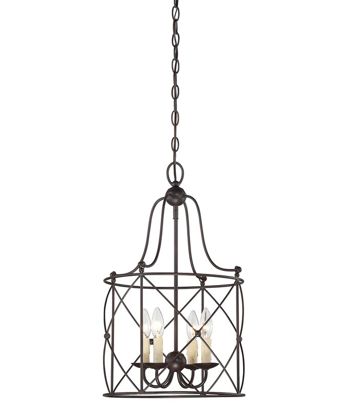 Well Known Aniyah 4 Light Lantern Geometric Pendant In Nisbet 6 Light Lantern Geometric Pendants (View 28 of 30)